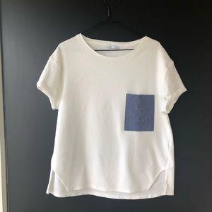 Zara Trafaluc Ivory Creme Blouse Size Small